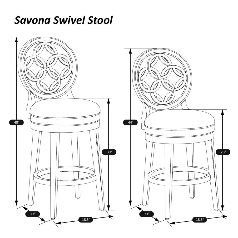 Savona Swivel Counter Height Stool, White. Picture 6