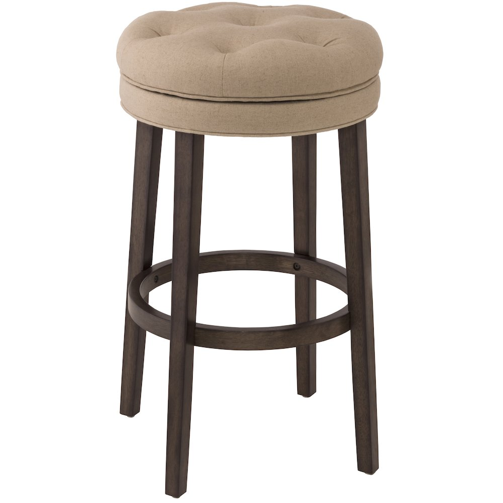 Krauss Backless Swivel Counter Stool Charcoal Gray