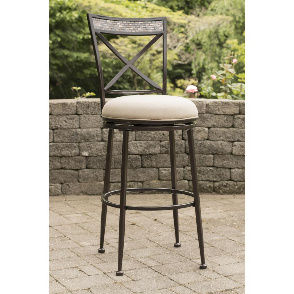 Indoor Outdoor Pullman Swivel Counter Stool