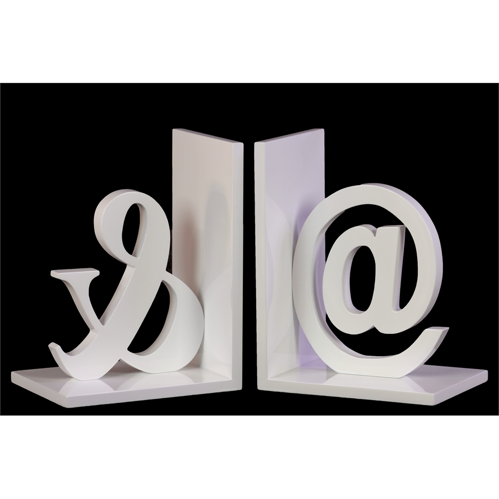 Wood Alphabet Sculpture Quot Amp Quot Bookend Assortment Of Two