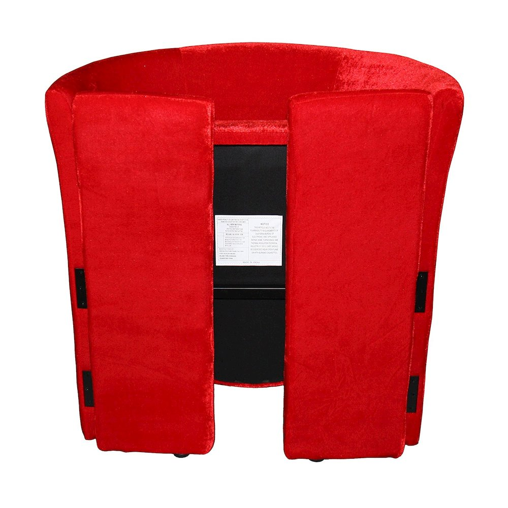 Red Microfiber Folding Chair. Picture 2