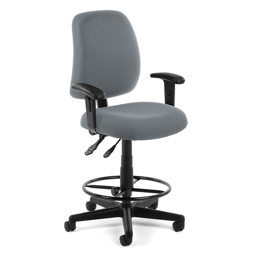 Posture Task Chair With Arms And Drafting Kit Gray