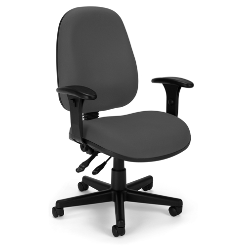Ergonomic Sliding Seat Computer Task Chair ComfySeat Gray