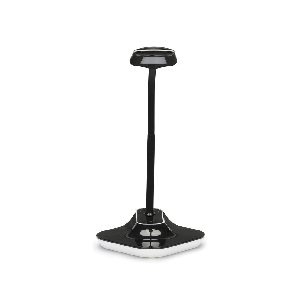 OFM ESS-9001-BLK Essentials LED Desk Lamp with Removable Base and Integrated Desk Clamp, Black. Picture 2