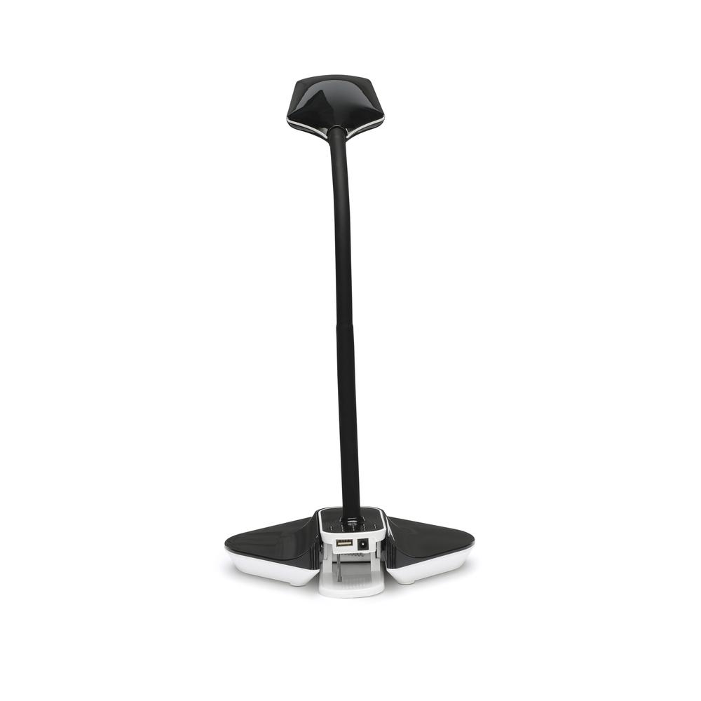 OFM ESS-9001-BLK Essentials LED Desk Lamp with Removable Base and Integrated Desk Clamp, Black. Picture 3