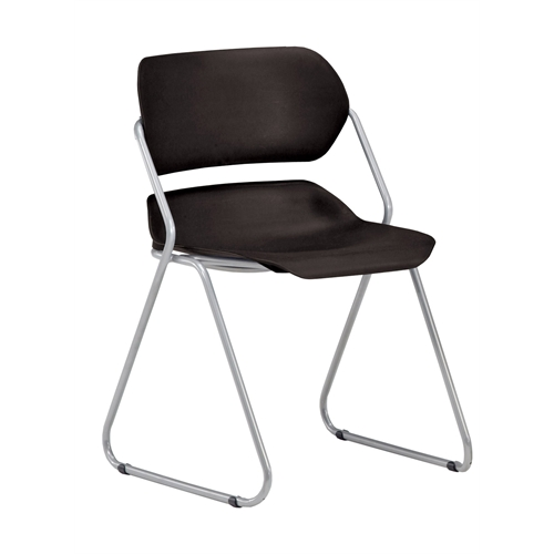 Martisa Series Armless Plastic Stack Chair, Black. Picture 1