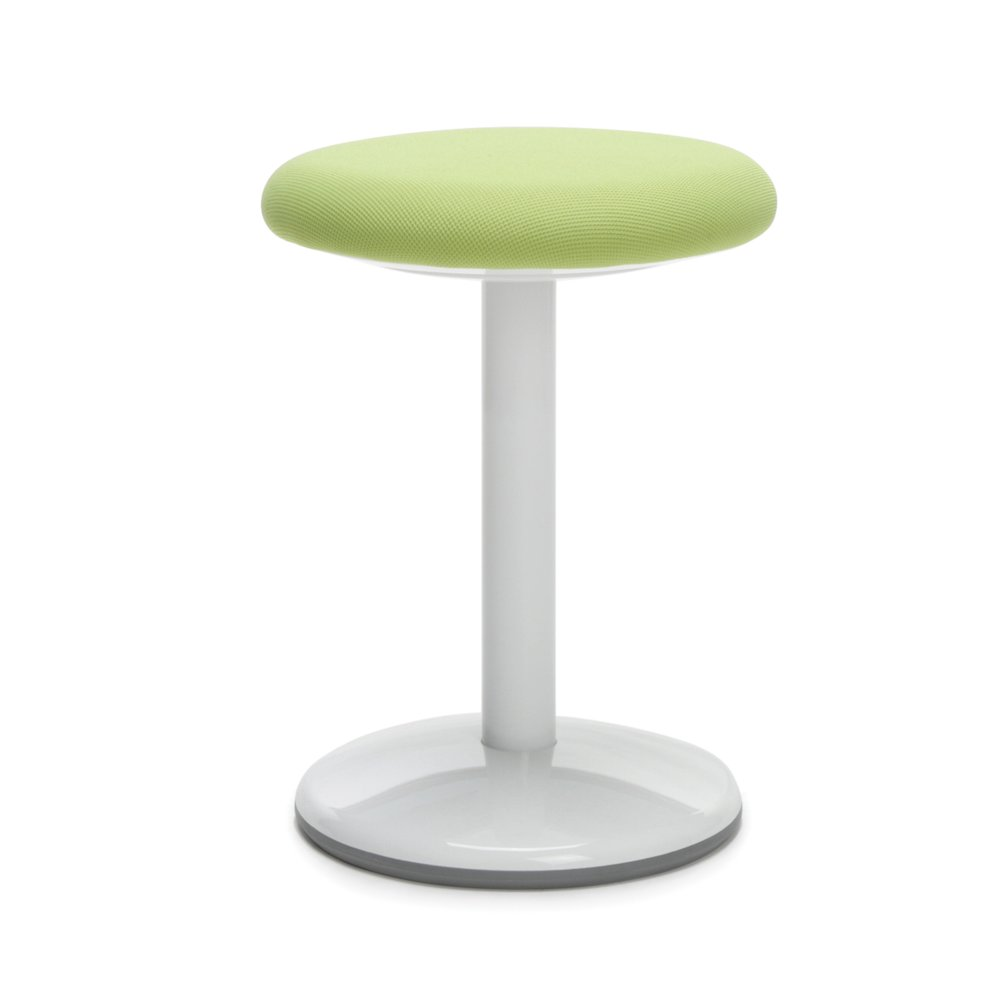Orbit Static Stool 18 Quot High Green Fabric