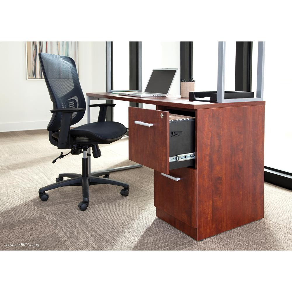 OFM Fulcrum Series Locking Pedestal, 2-Drawer Filing Cabinet, Cherry (CL-FF-CHY). Picture 7