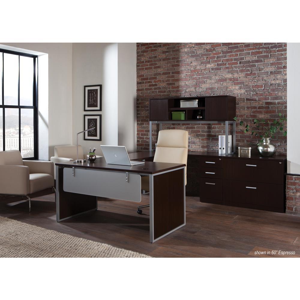 OFM Fulcrum Series 66x24 Credenza Desk, Desk Shell for Office, Espresso (CL-C6624-ESP). Picture 7
