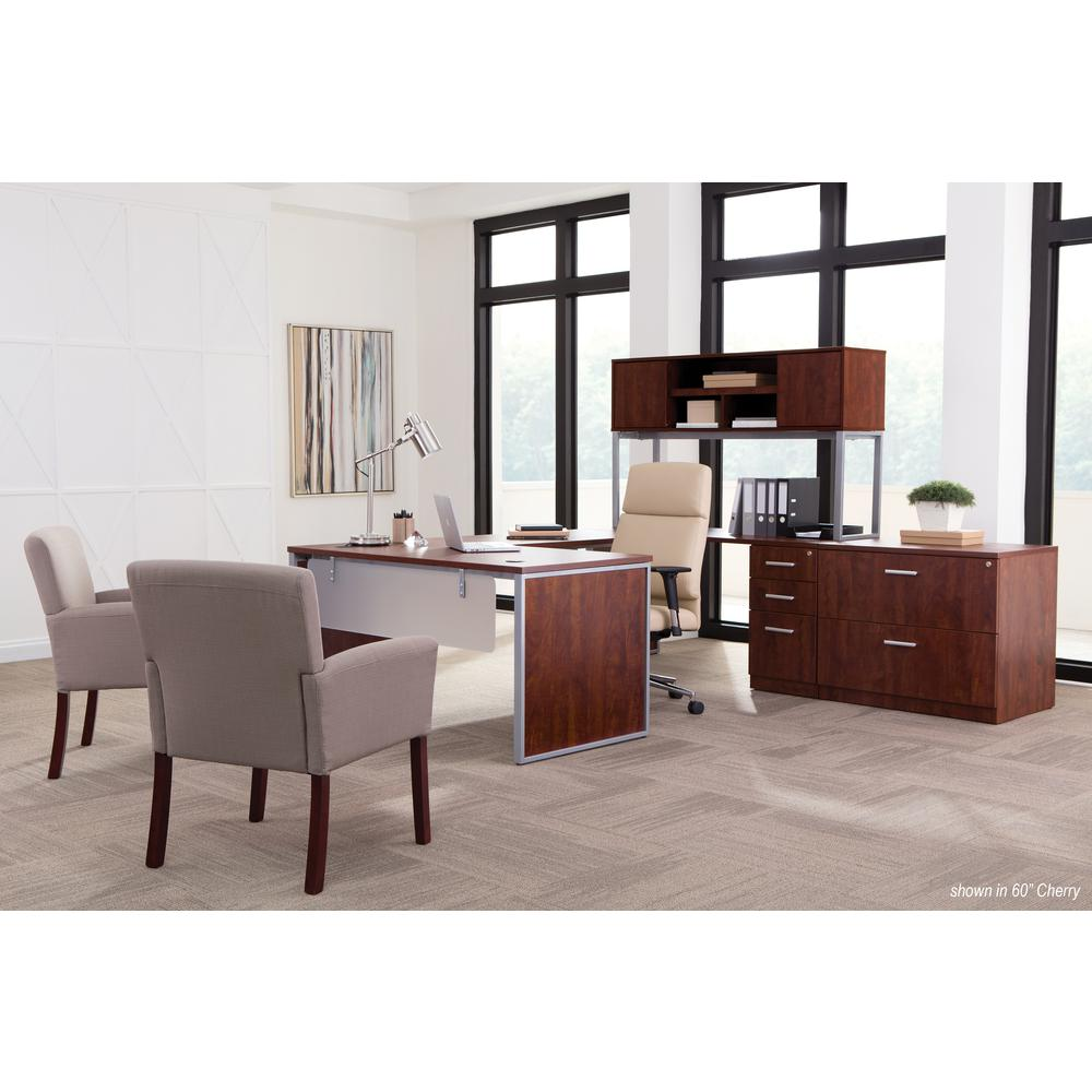 "OFM Fulcrum Series 72"" Hutch with Doors, Office Cabinet for Storage, Cherry (CL-H7215-CHY). Picture 7"