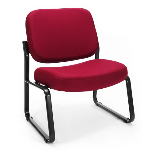 Big Amp Tall Armless Guest Reception Chair Wine