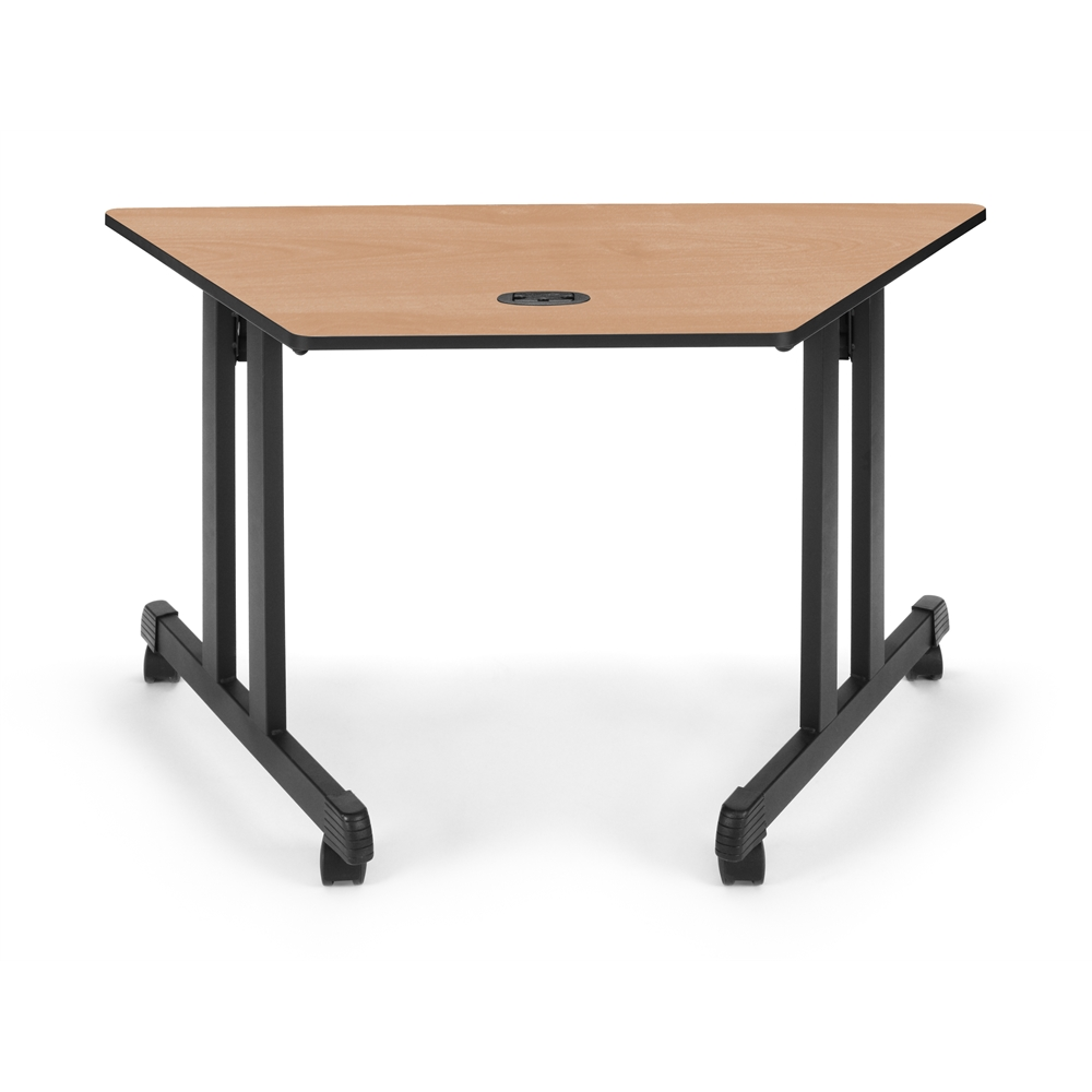 Trapezoid table 48 x 24 maple for Trapezoid table