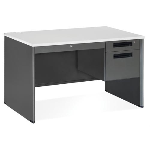 Executive Series Single Pedestal Panel End Desk With