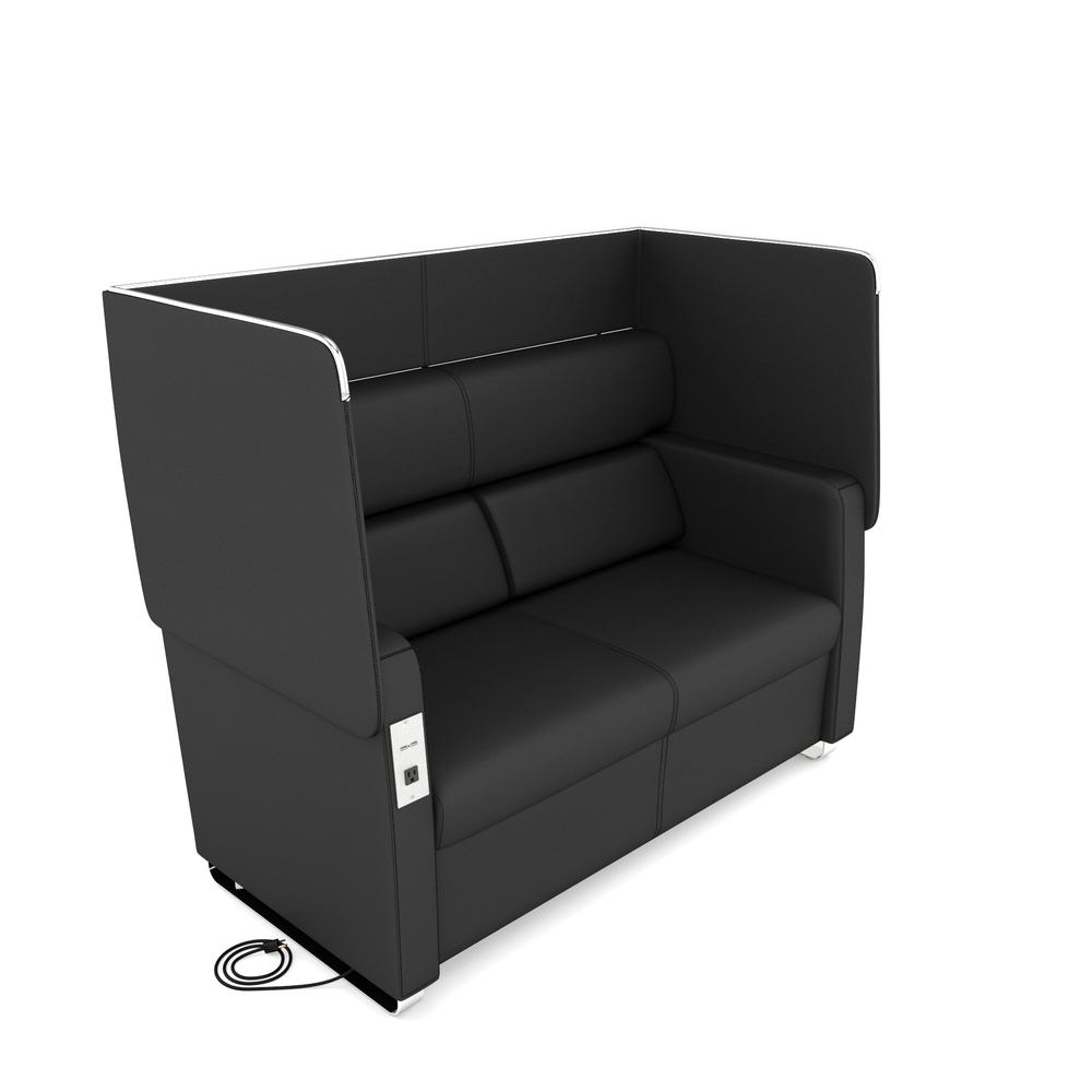 OFM Model 2202 Sofa with Flip-Up Panels USB Recharge Panel, Anti-Microb Vinyl. Picture 1