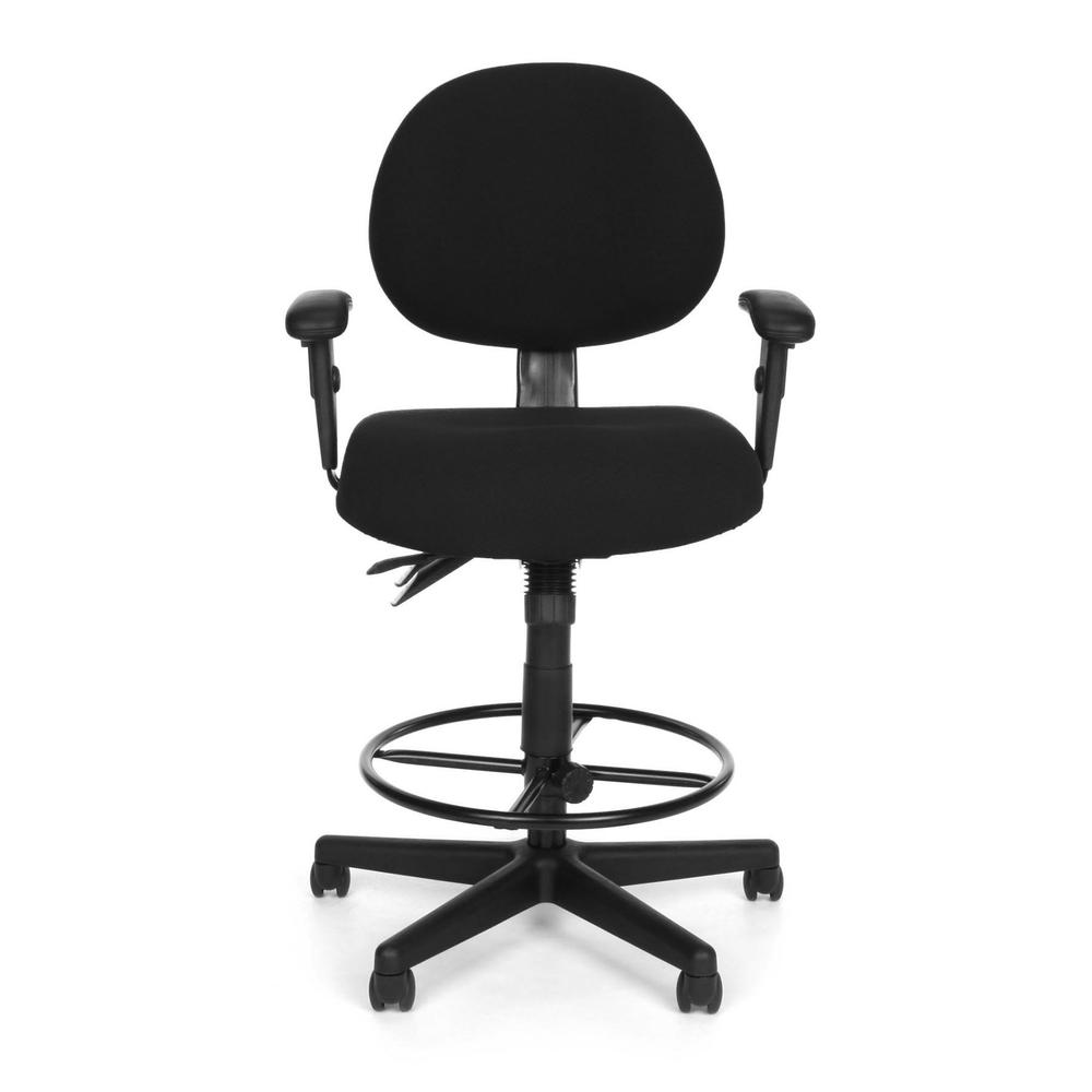 OFM Model 241-AA-DK Multi-Adjustable Upholstered Task Chair with Arms. Picture 2