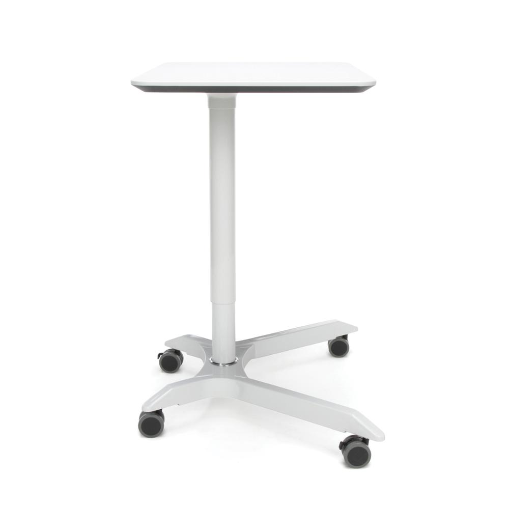 OFM Mesa Series Model 66100 Height Adjustable Mobile Podium, White. Picture 4