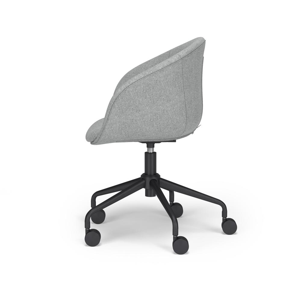 HON Basyx Monroe Fabric Upholstered Task Chair, Office Chair, in Gray (BSX101VA19T). Picture 5