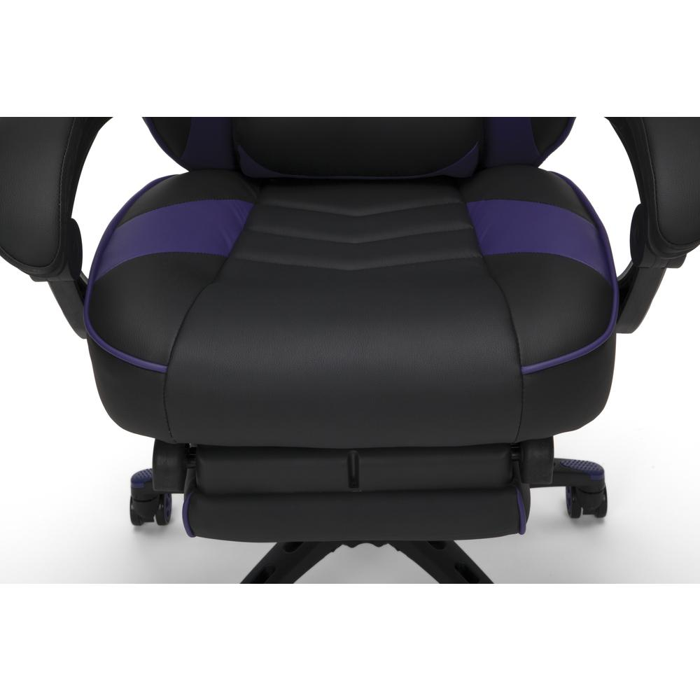 RESPAWN 110 Racing Style Gaming Chair with Footrest, in Purple. Picture 10