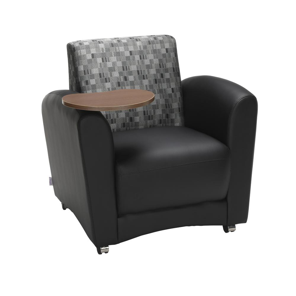 OFM  Single Seat Chair with Bronze Tablet,/Nickel (821-N-606-BRONZ). Picture 1