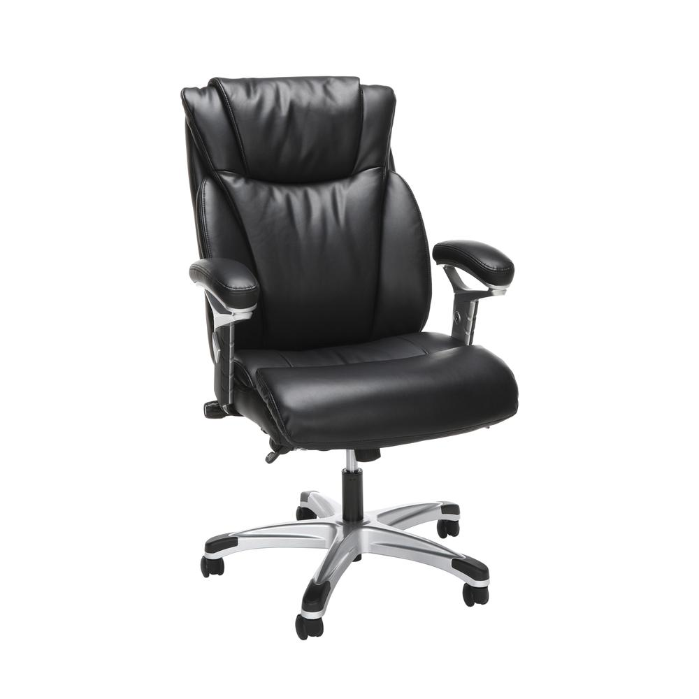 OFM Essentials Series Ergonomic Executive Bonded Leather Office Chair, in Black (ESS-6046-BLK). Picture 1