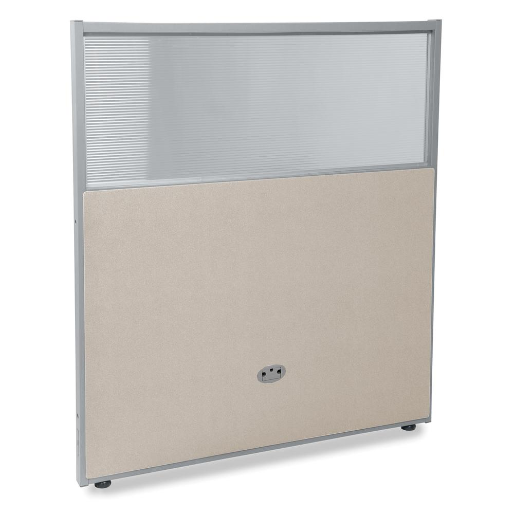 Vinyl Panel with Polycarbonate, Beige with Gray Frame. Picture 1