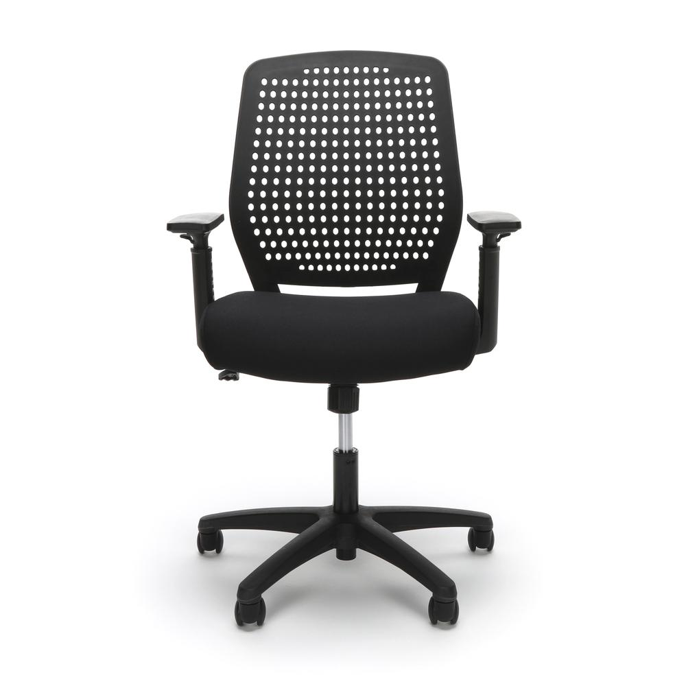 Essentials by OFM ESS-2055 Plastic Back Ergonomic Task Chair, Black with Black. Picture 2