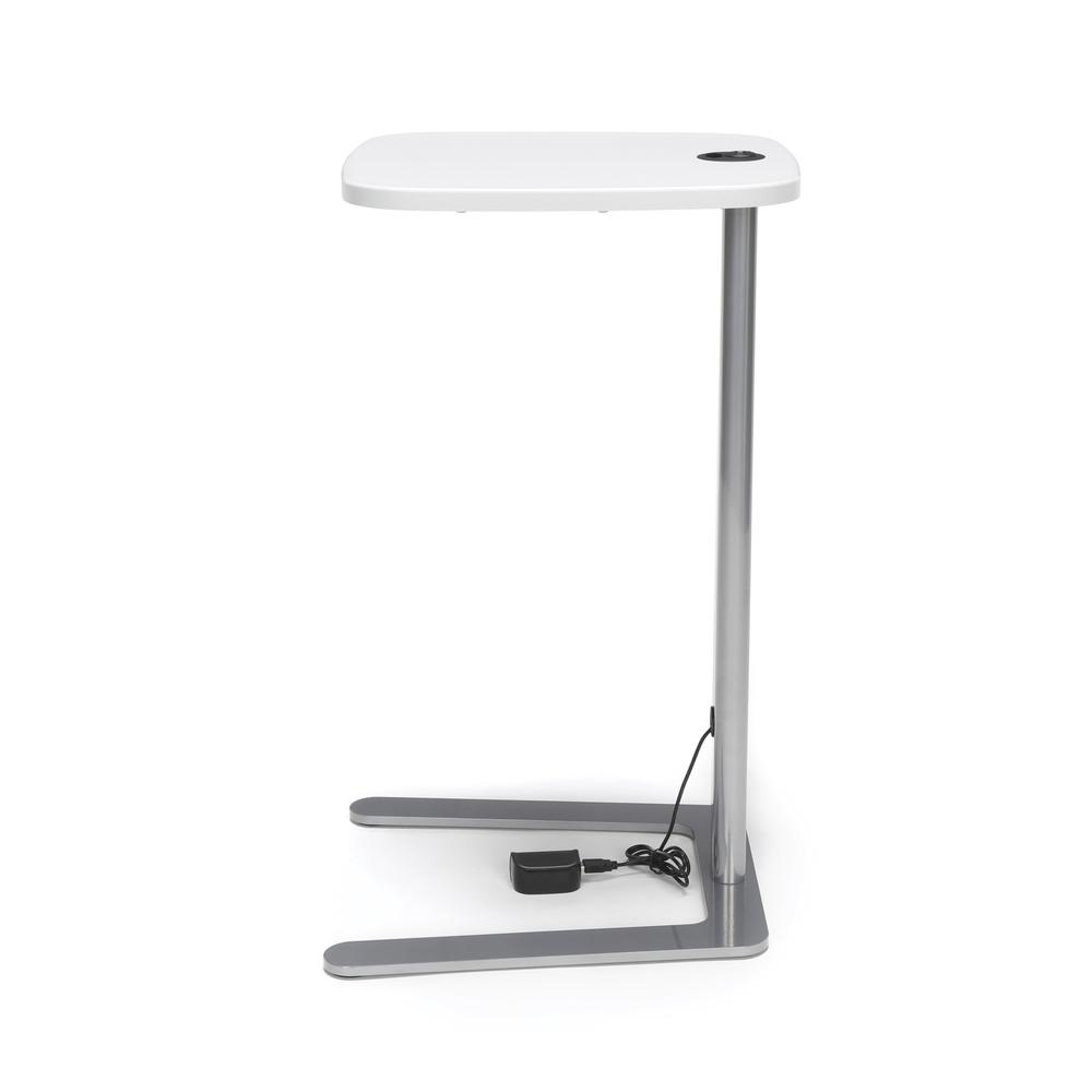OFM Model ACCTAB Accent Table with USB Grommet, White. Picture 5