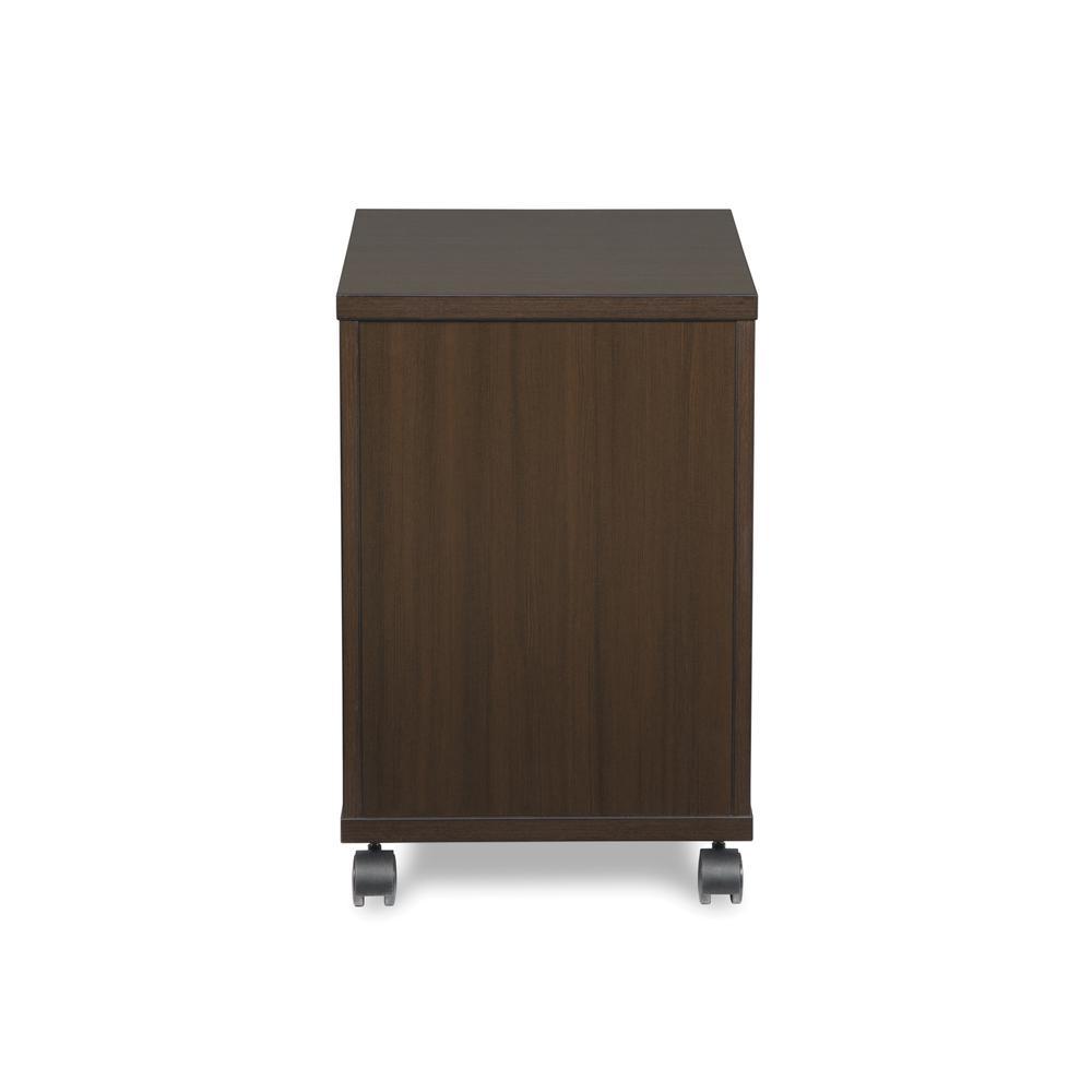 OFM Fulcrum Series Locking Pedestal, Mobile 2-Drawer Filing Cabinet, Espresso (CL-MBF-ESP). Picture 3