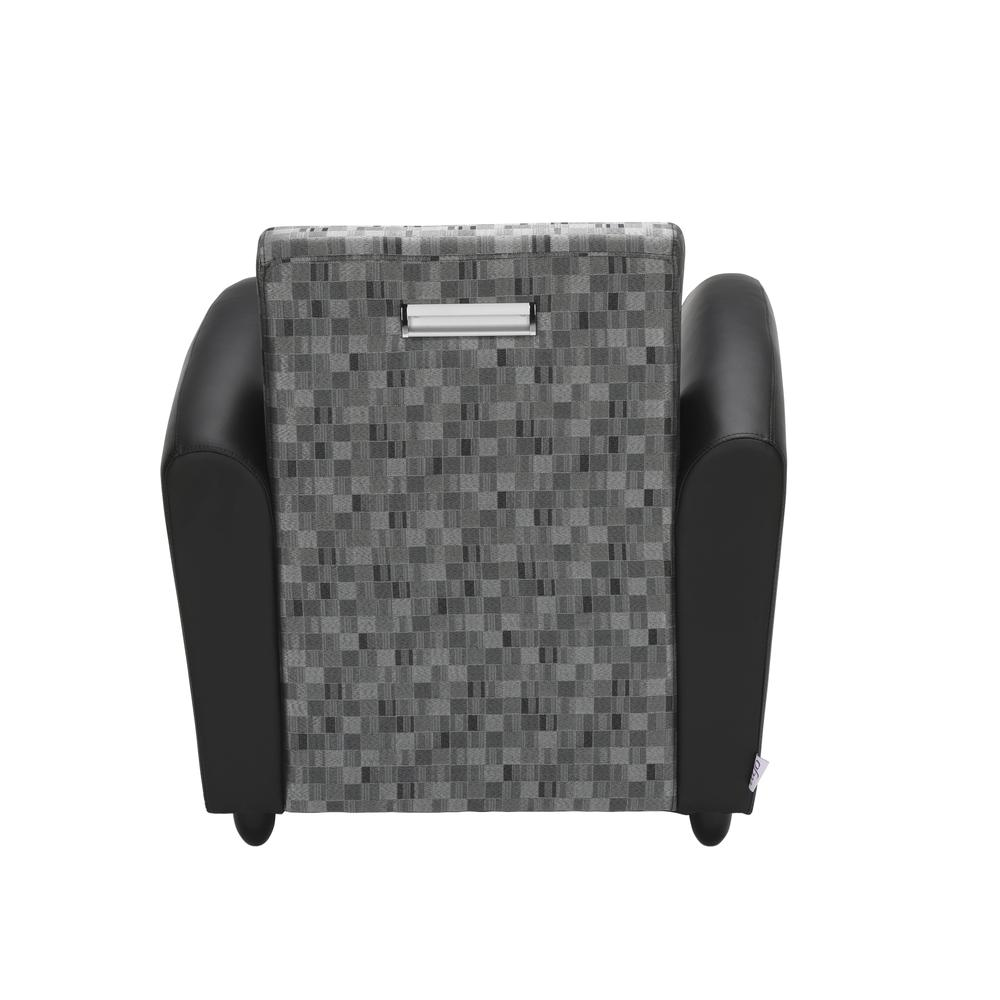 OFM InterPlay Series Single Seat Chair, in Nickel/Black (821-NCKL-PU606NT). Picture 3