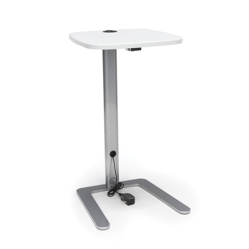 OFM Model ACCTAB Accent Table with USB Grommet, White. Picture 1