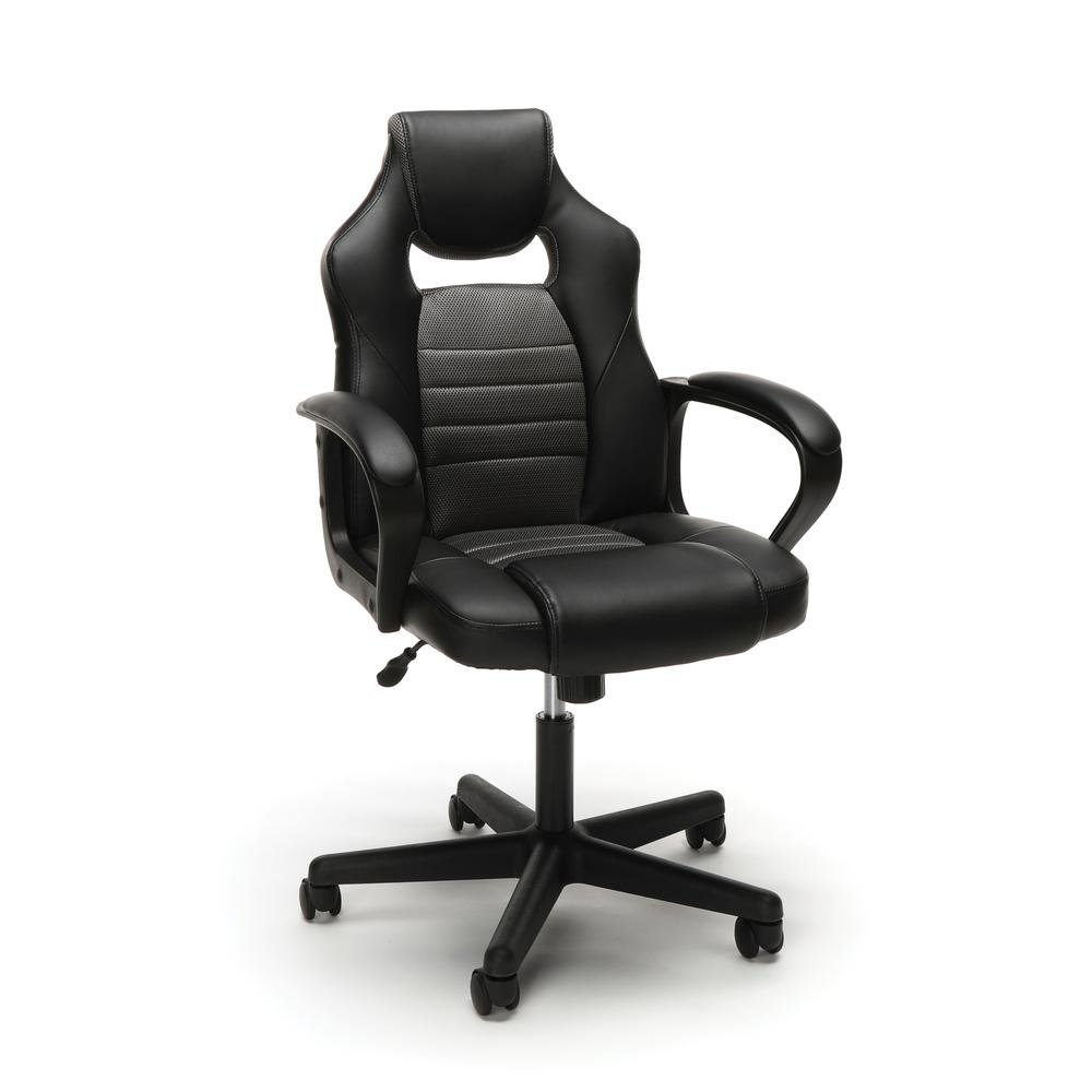 Essentials by OFM ESS-3083 Racing Style Gaming Chair, Gray. Picture 1