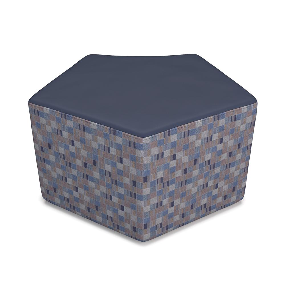 OFM Quin Series Model 55 Polyurethane Stool, Navy with Blue Jay. Picture 1