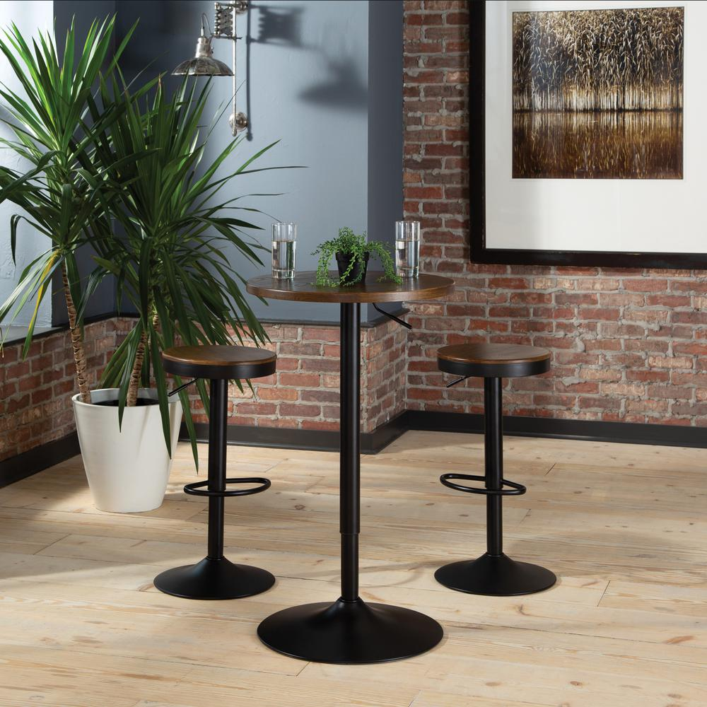 "The OFM 161 Collection Industrial Modern 33"" to 42"" Adjustable Pub Table provides a blank canvas that pairs beautifully with any of the stool seating from the 161 Collection. The pub table's height ad. Picture 11"
