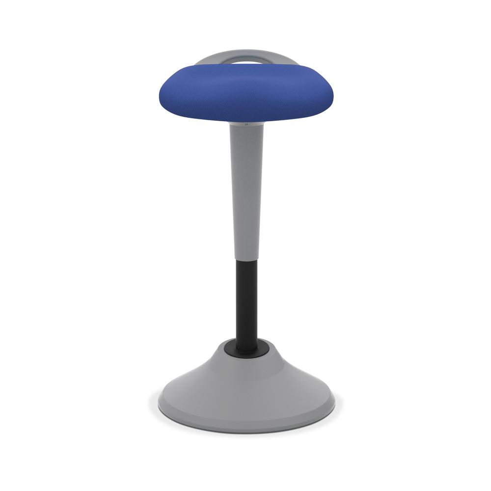 HON Perch Stool, Sit to Stand Backless Stool for Office Desk, Blue (HVLPERCH). Picture 2