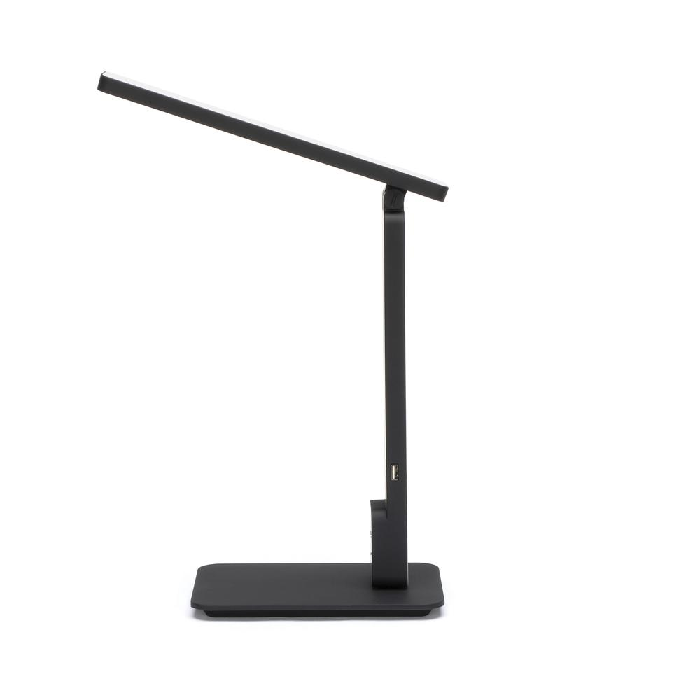 OFM 4025-BLK Industrial LED Desk Lamp with Touch Activated Switch and USB Charging Port, Black. Picture 5