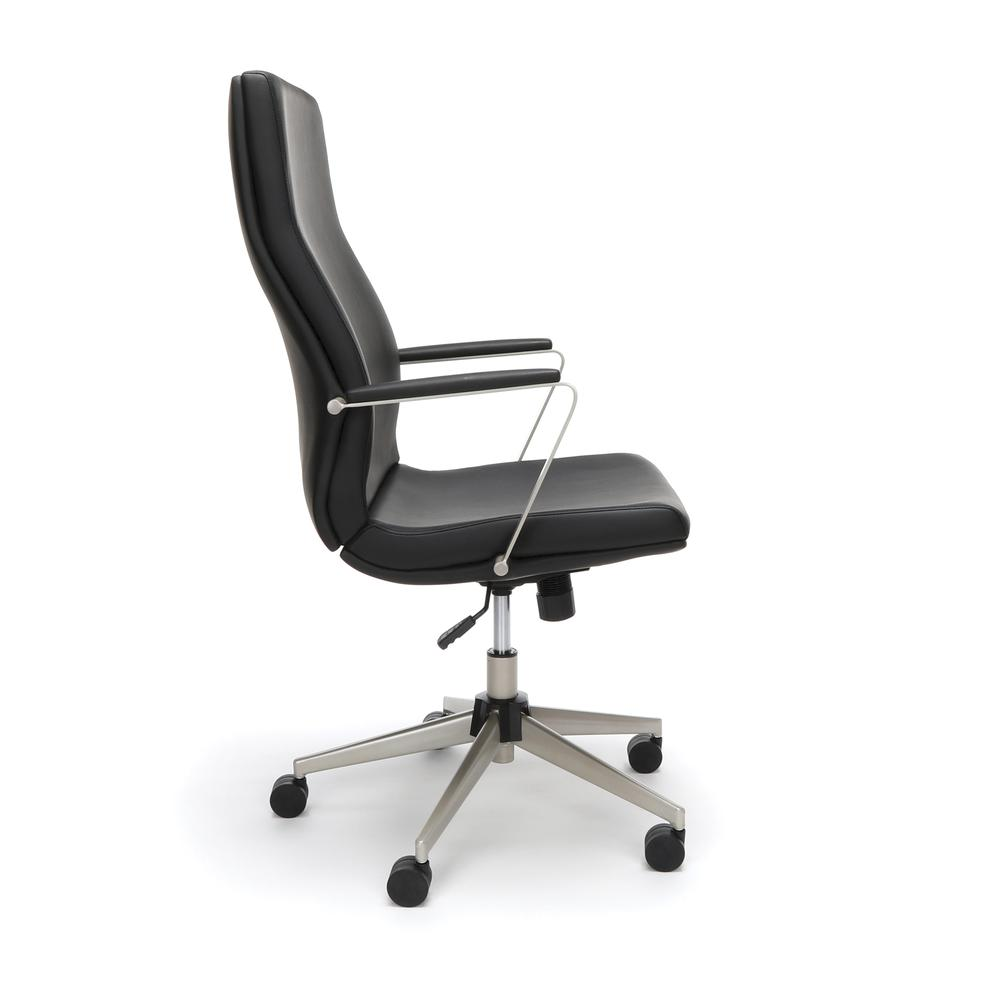 OFM Model 567 High-Back Bonded Leather Manager's Chair, Black. Picture 4