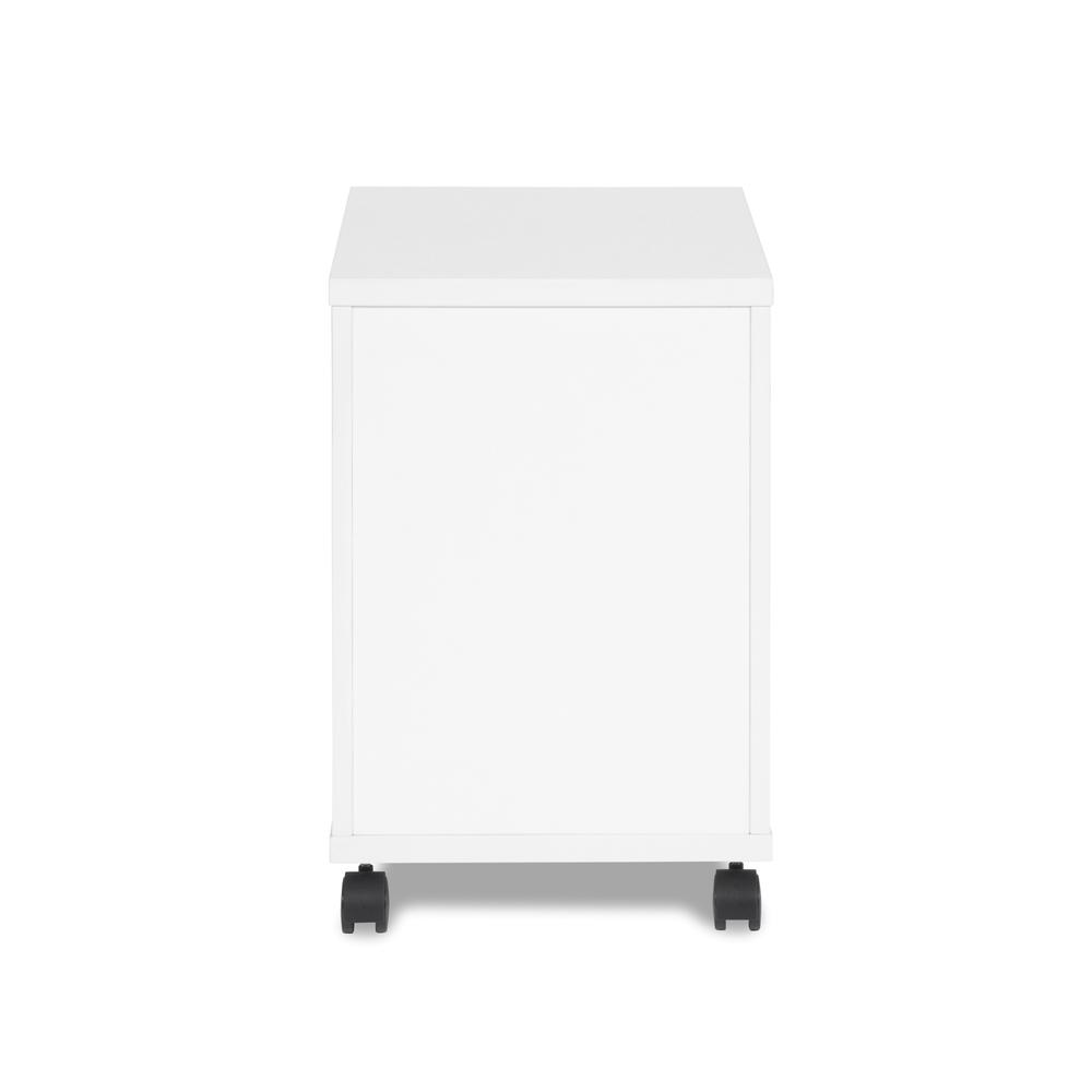 OFM Fulcrum Series Locking Pedestal, Mobile 2-Drawer Filing Cabinet, White (CL-MBF-WHT). Picture 3