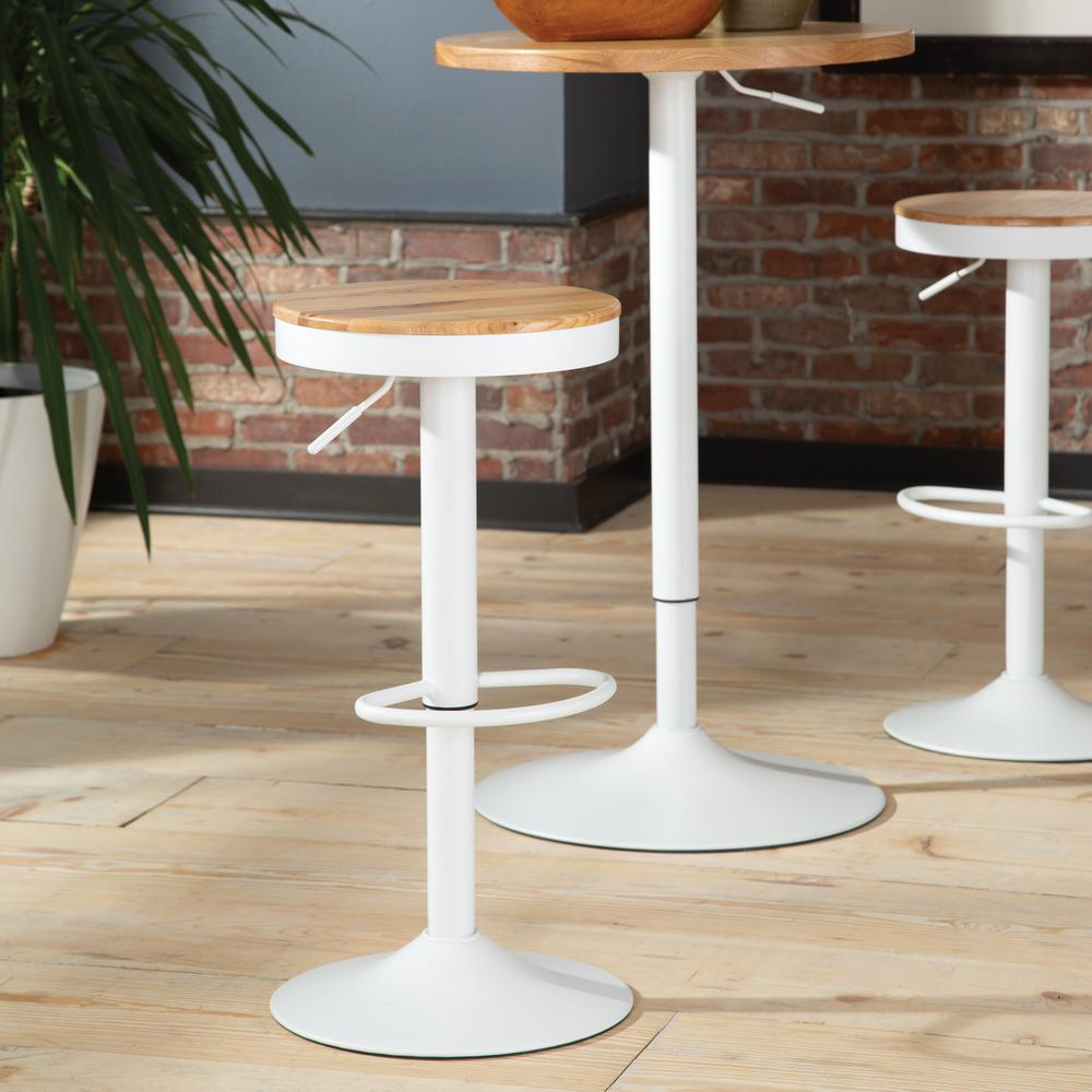 "The OFM 161 Collection Industrial Modern Backless 23"" to 32"" Adjustable Bar Stool, 2 pack, is the quintessential industrial modern accent where wood meets metal in a minimalist form with pneumatically"