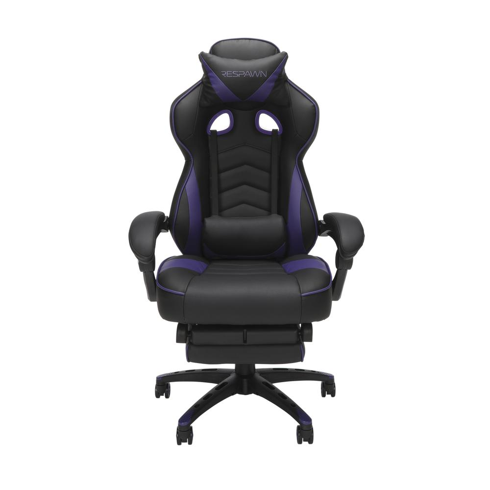RESPAWN 110 Racing Style Gaming Chair with Footrest, in Purple. Picture 2
