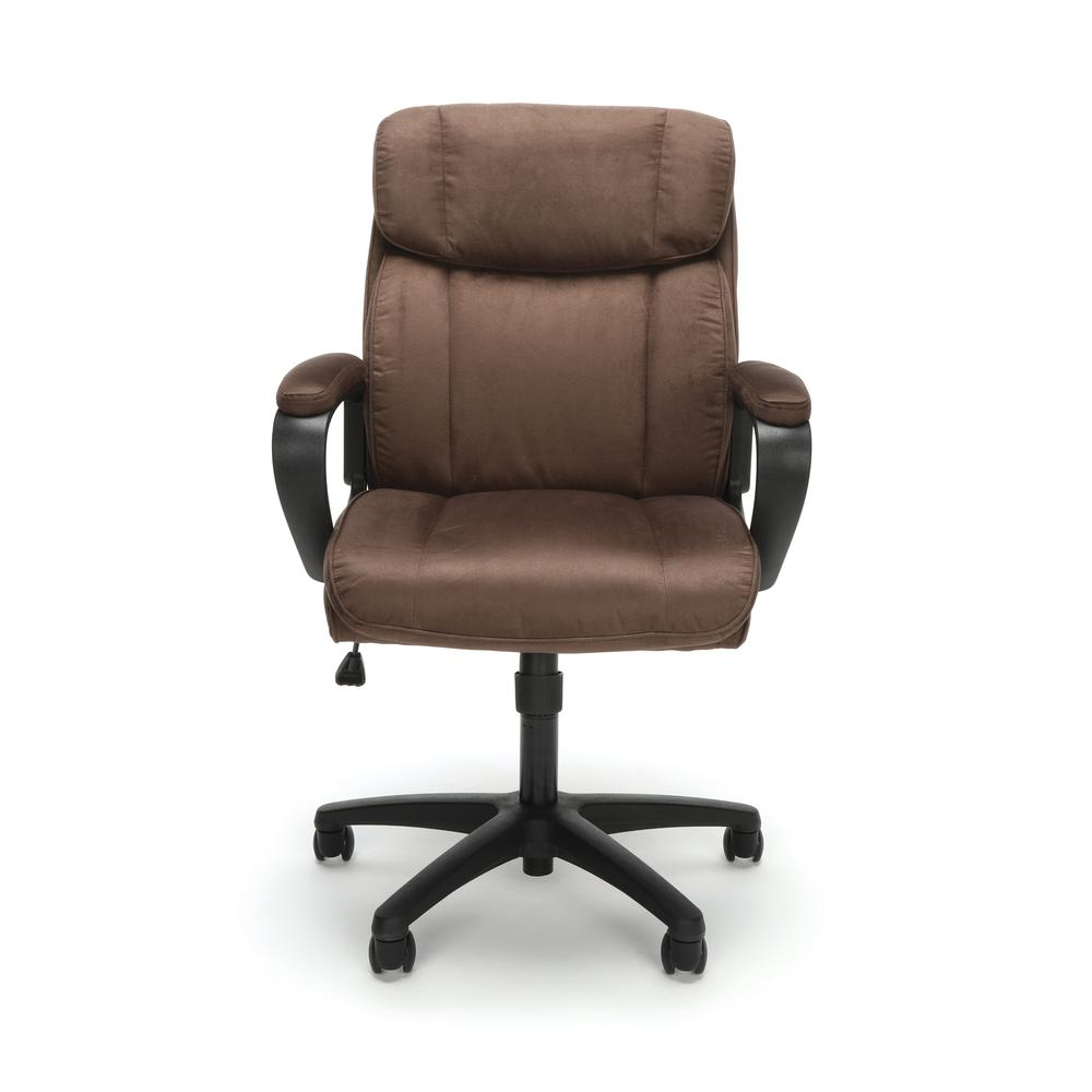 Essentials by OFM ESS-3082 Plush Microfiber Office Chair, Brown. Picture 2