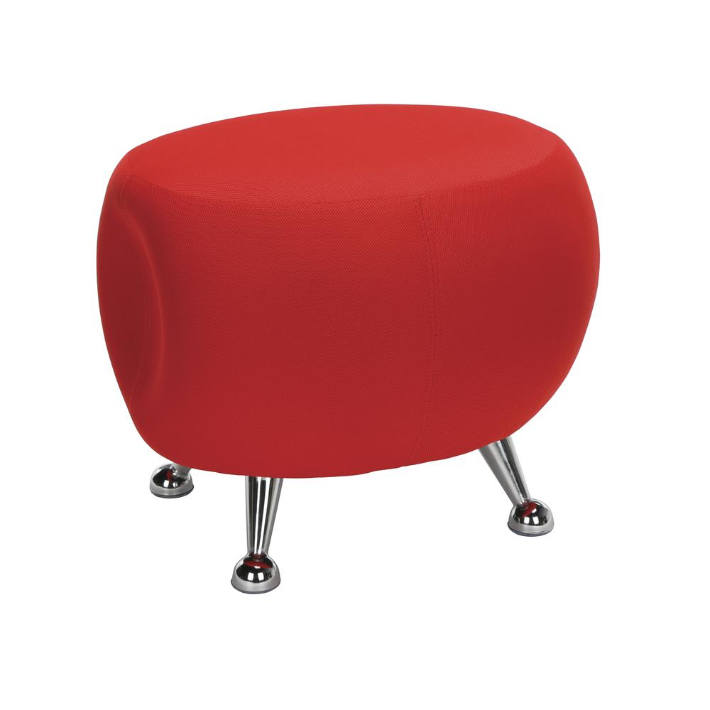 OFM Jupiter Series Fabric Ball Stool, in Red (2001-2312). Picture 1