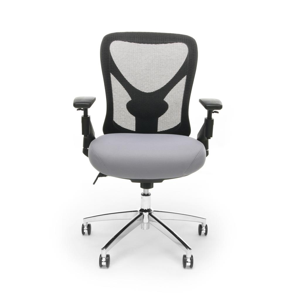 OFM Stratus Series Model 257 24-Hour Big & Tall High-Back Mesh Chair, Gray. Picture 2