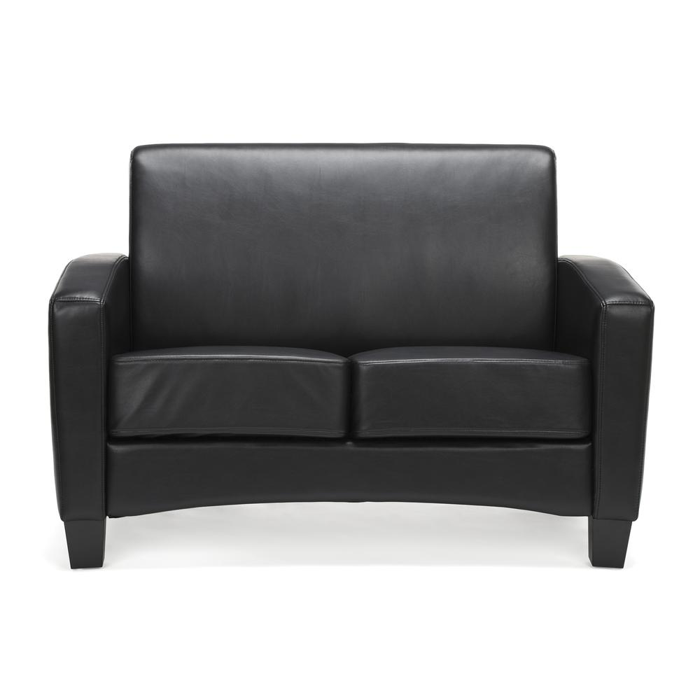 Essentials by OFM ESS-9051 Traditional Reception Loveseat, Black. Picture 2