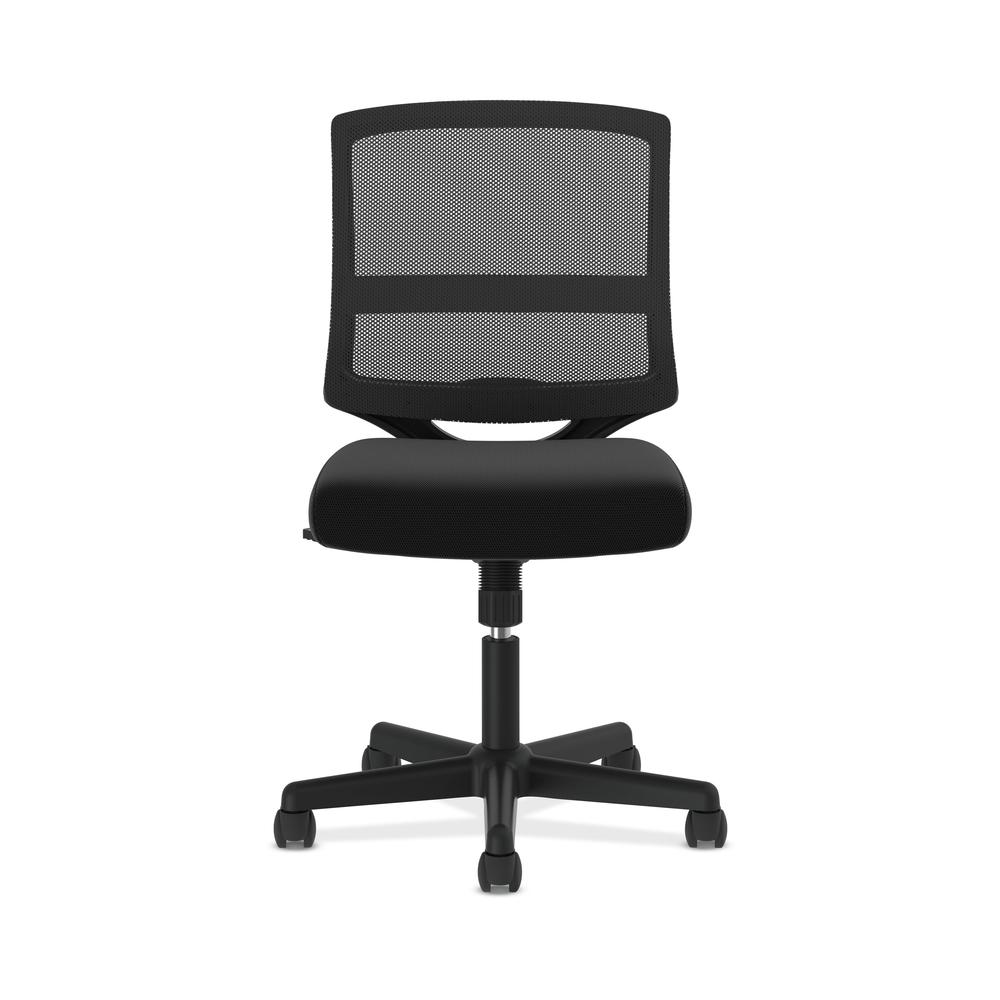 HON ValuTask Mid-Back Mesh Task Chair, Armless Black Mesh Computer Chair (HVL206). Picture 2