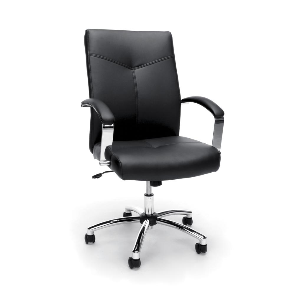 Essentials by OFM E1003 Executive Conference Chair, Black. Picture 1