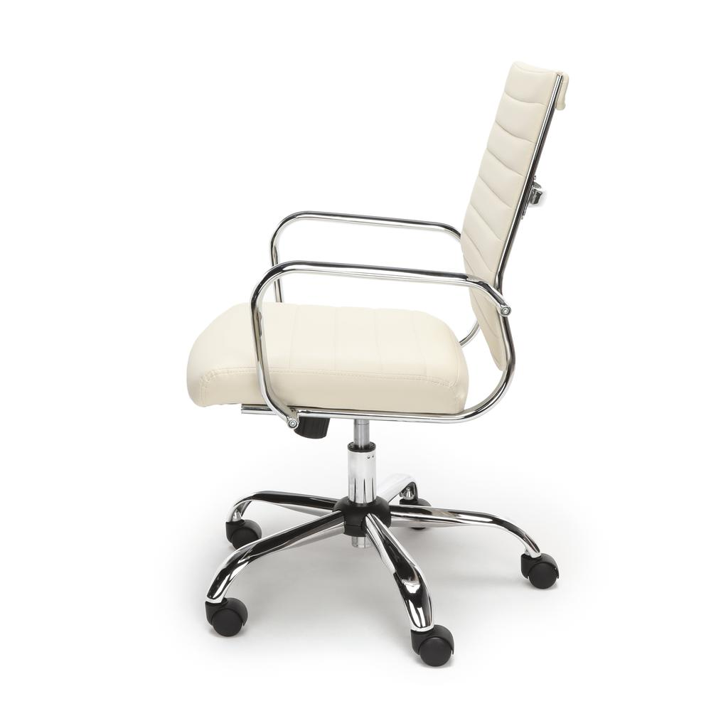 OFM ESS-6095 Soft Ribbed Bonded Leather Conference Chair, Ivory. Picture 5