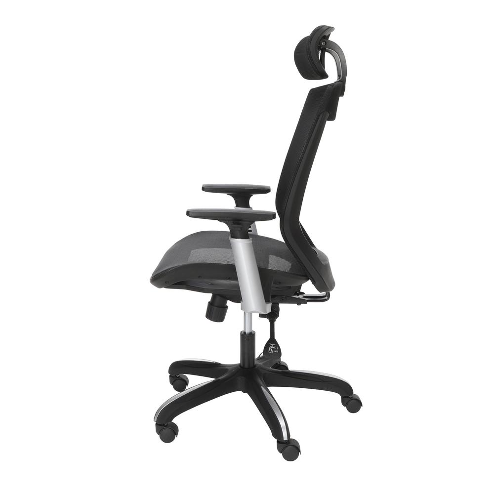OFM Core Collection Full Mesh Office Chair with Headrest, Lumbar Support, in Black. Picture 5