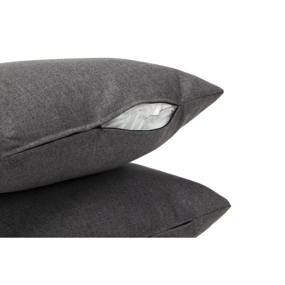 161 Collection Mid Century Modern 2-Pack 18 x 18 Accent Pillows, Dark Gray. Picture 9