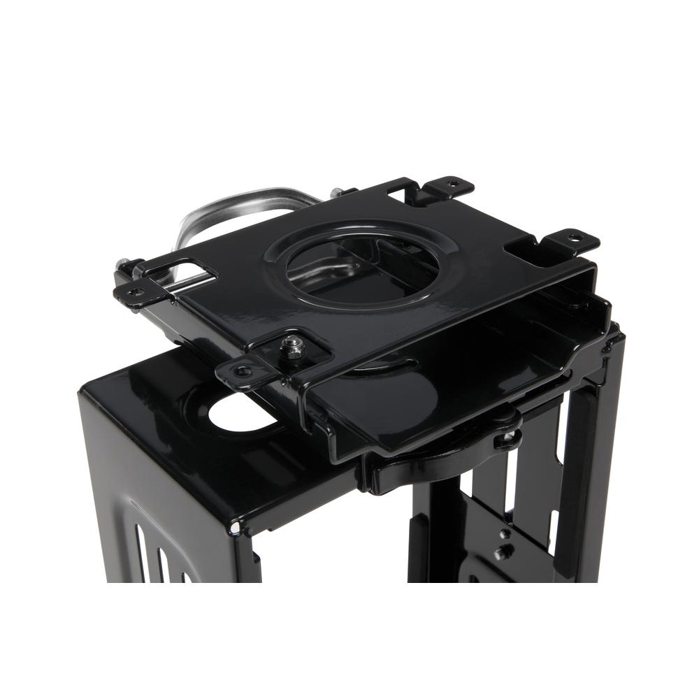 OFM Essentials Collection Adjustable Under Desk and Wall Mount Computer CPU Holder, in Black (ESS-8900-BLK). Picture 6