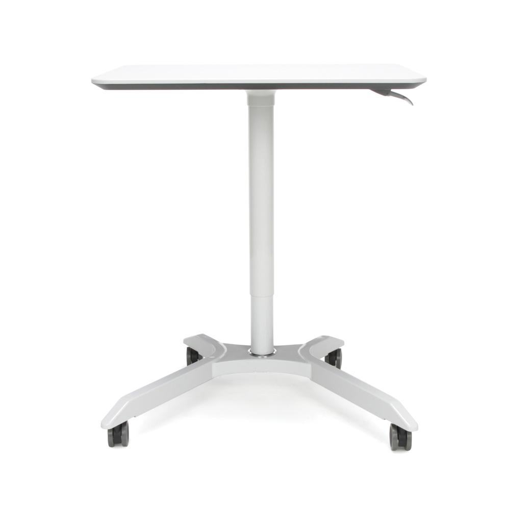 OFM Mesa Series Model 66100 Height Adjustable Mobile Podium, White. Picture 2